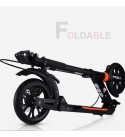Foldable Adult Kick Scooters with Disc Brakes, Non-Electric Commuter Scooters with Big Wheels, Birthday Gifts for Adults/Teens/Kids, Up to 150kg