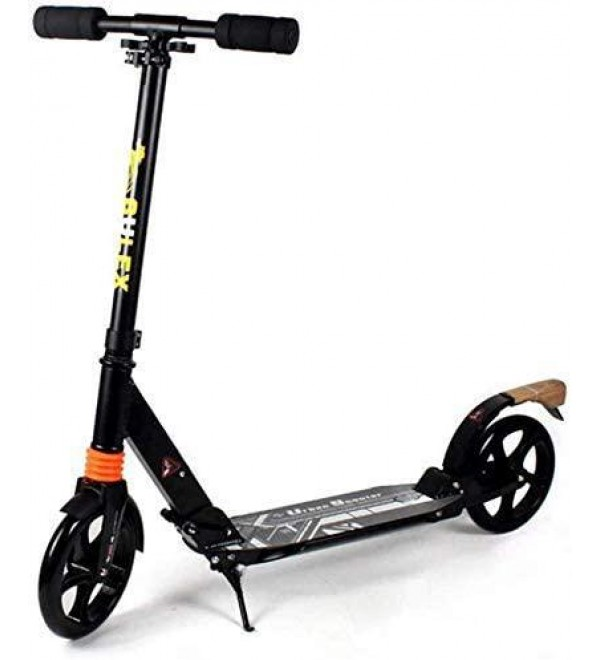CFJKN Adult Scooters with Big Wheels, Folding Adjustable Commuter Scooter (Non-Electric) Adult Scooter for Teens,Black