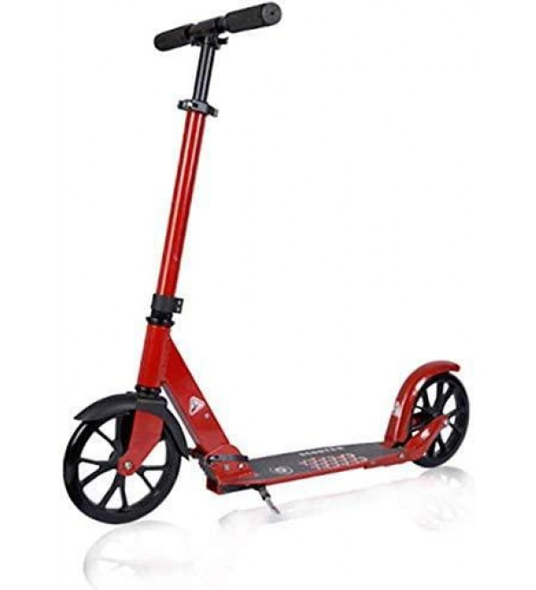 CFJKN Adult Scooters with Big Wheels, Folding Adjustable Commuter Scooter with Disc Handbrake (Non-Electric) Adult Scooter for Kids Girls Or Boys,red_88x97cm