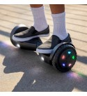 Jetson Aero All Terrain Hoverboard with LED Lights   Anti Slip Grip Pads   Self Balancing Scooter with Active Balance Technology   Range of Up to 7 Miles, Ages 13+, JAERO-BLK, Black