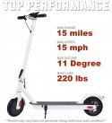 Electric Scooter for Adults and Kids Lightweight Quick Folding Max 15mph Speed 15 Miles Long-Range Battery with 250W Motor E-Scooter for Commuter